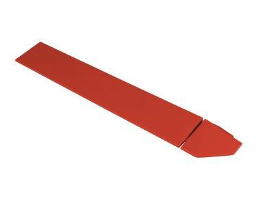 Hestra Plattan - Hestra Racing Red - rohová lišta, červená
