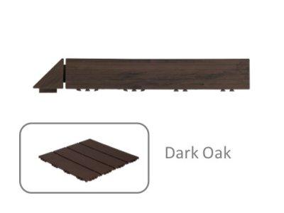 Hestra Plattan - Wood Look Dark Oak - rohová lišta, tmavý dub