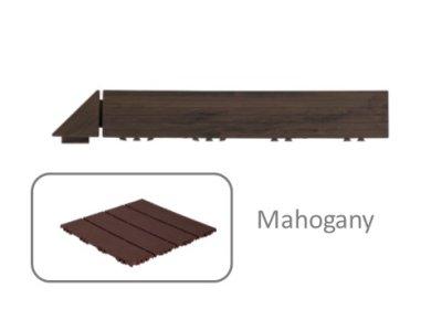 Hestra Plattan - Wood Look Mahogany - rohová lišta, mahagónová